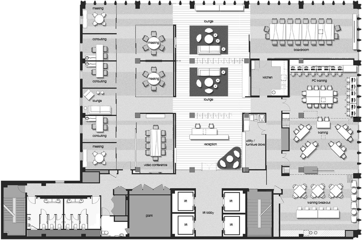 Bank floor plan