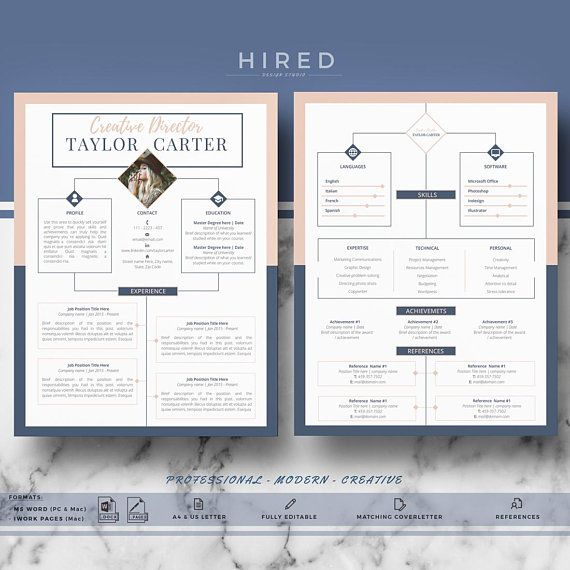 pages mac modele de cv