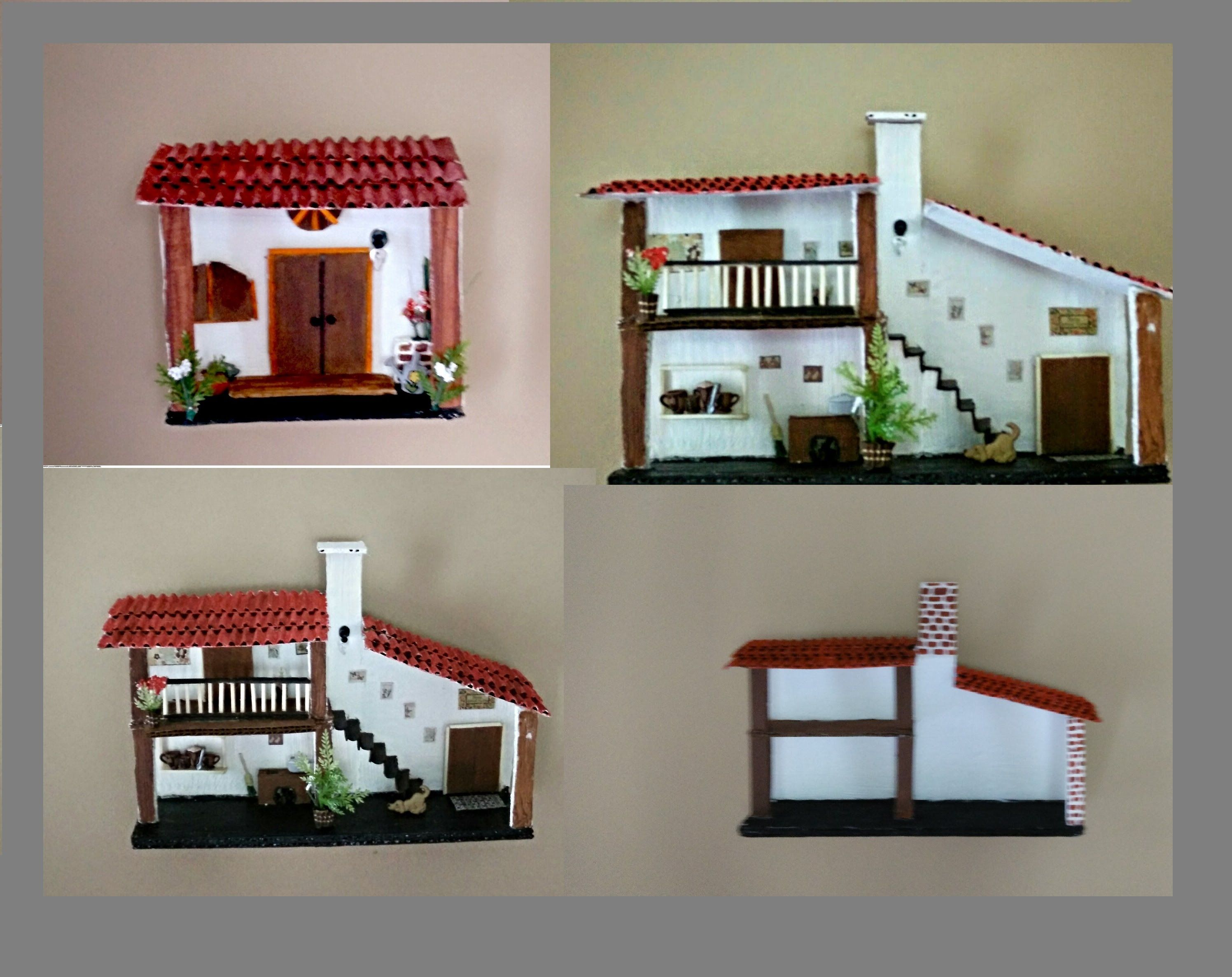 Casitas para decorar tu pared tus me gusta de for Como decorar nuestra casa