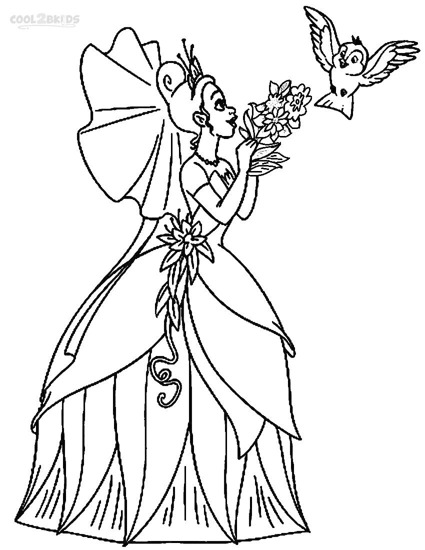 Disney princess coloring pages tiana - Disney Princess Tiana Coloring Pages Printable Princess Tiana Coloring Pages For Kids