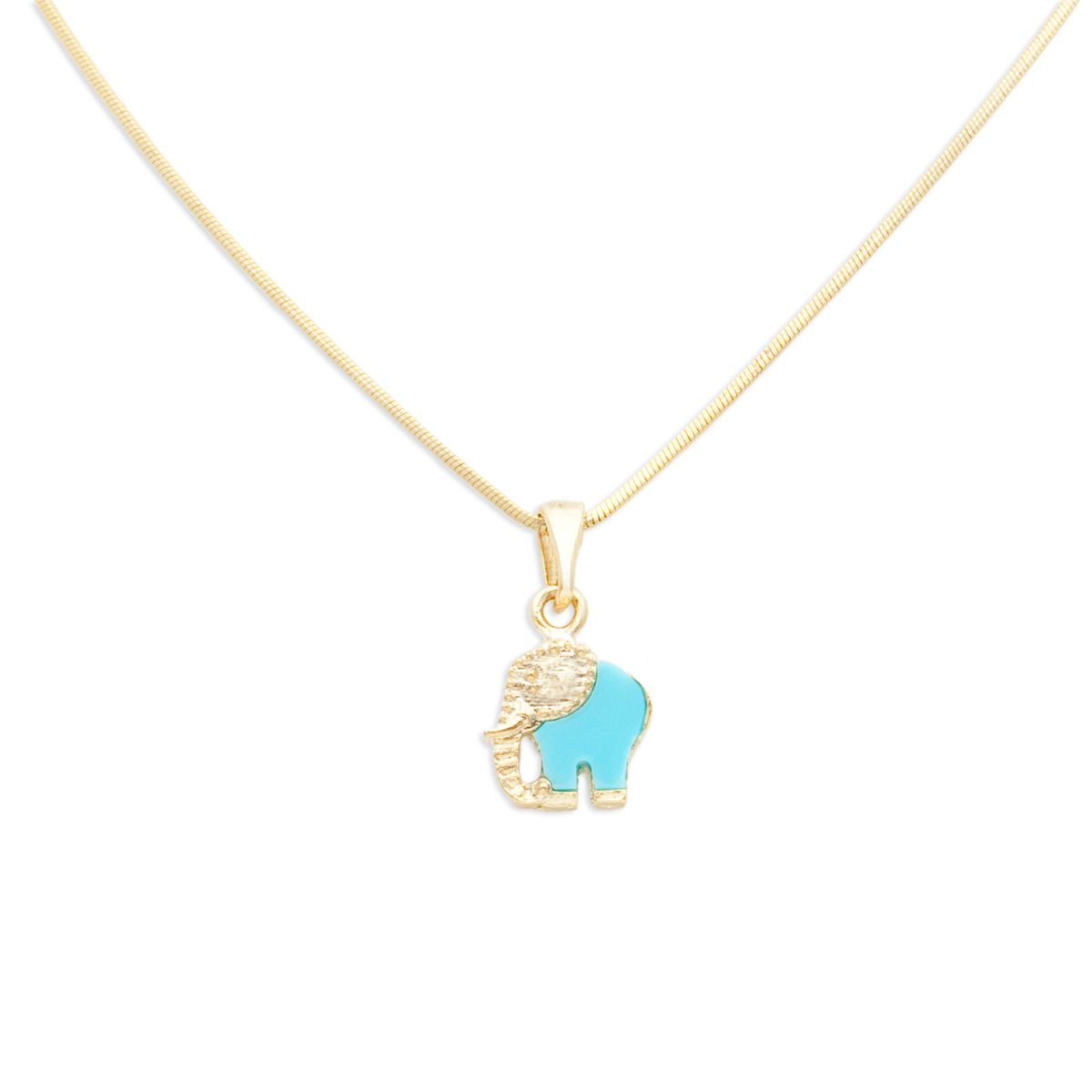 Add Some Charm To Your Everyday Ensemble With This Jasmine Elephant Charm  Necklace. The Turquoise And Gold Design Of The Elephant Charm Is Striking  On Its ...