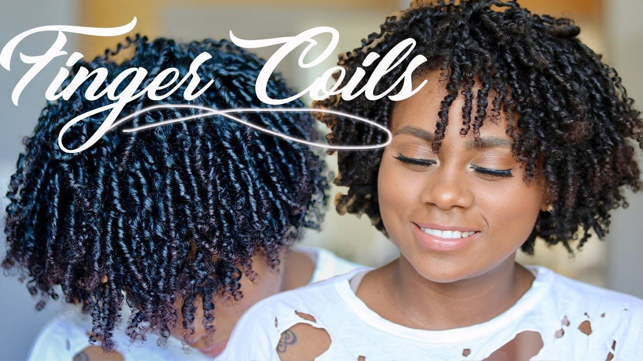how to: finger coils | natural hair | ft eco styler black