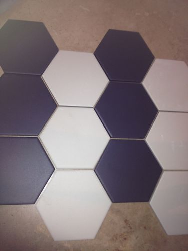 Victorian original style hexagonal tiles  unglazed porcelain