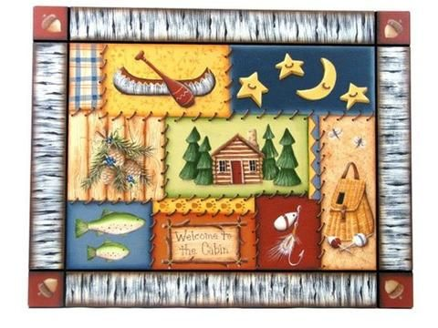 North Woods Welcome Plaque E-Pattern