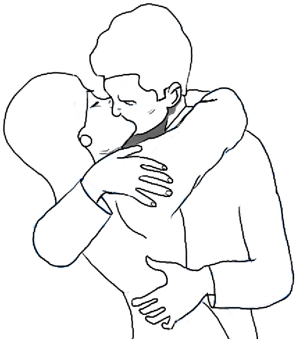 How to Draw Kissing : Drawing a Passionate Kiss for