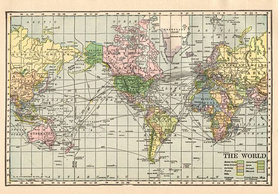 1913 antique world map vintage map of the world gallery wall maps 1913 antique world map vintage map of the world gallery wall gumiabroncs Image collections