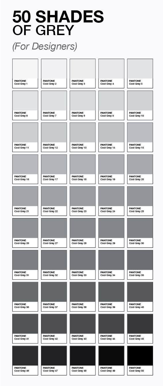 The true shades of grey for designers also grafik  illustrations rh pinterest