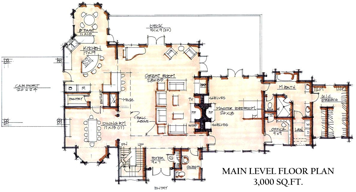 Luxury Log Cabin Floor Plans Log Homes in Denver Colorado Log