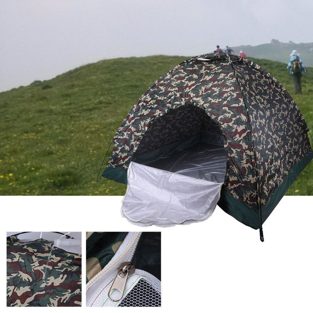 high quality One bedroom 4person family tent Camouflage UV bottom waterproof outdoor picnic tent c&ing Spacious & high quality One bedroom 4person family tent Camouflage UV bottom ...
