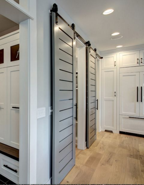 Sliding Door Color Is Benjamin Moore Clic French Gray