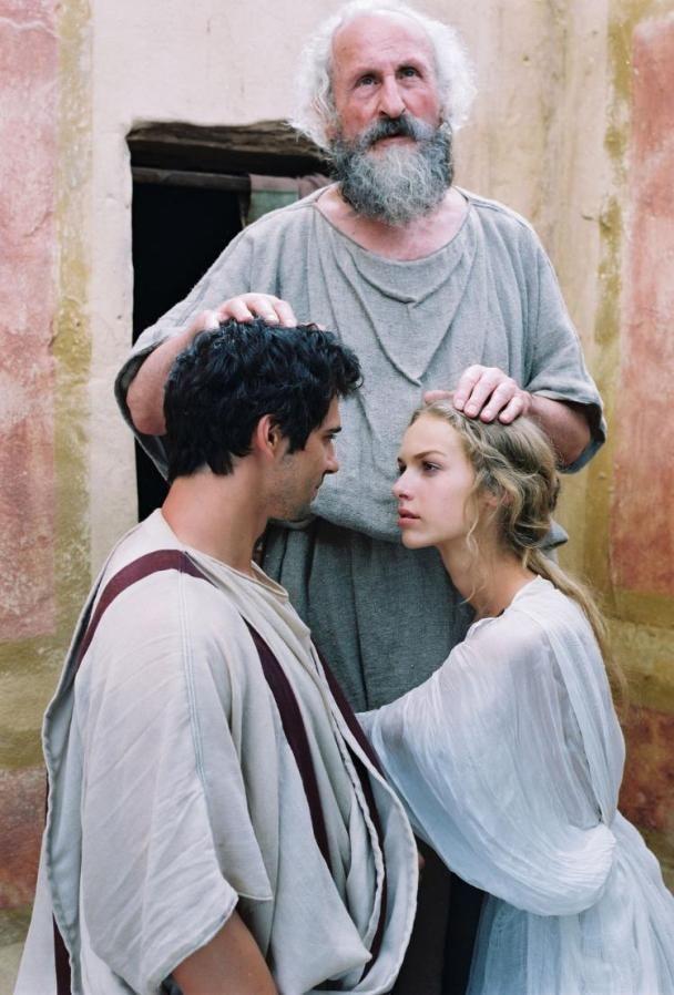 Quo Vadis 2001 - Lygia and Marcus Vinicius with Apostle Peter