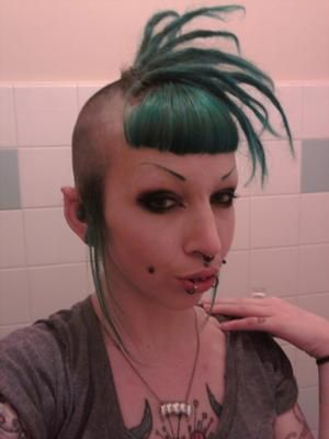 Blue Dreadlocks And Bangs My Sonic The Hedgehog Hair Mohawk Styles Dreadlocks Pictures Dreads