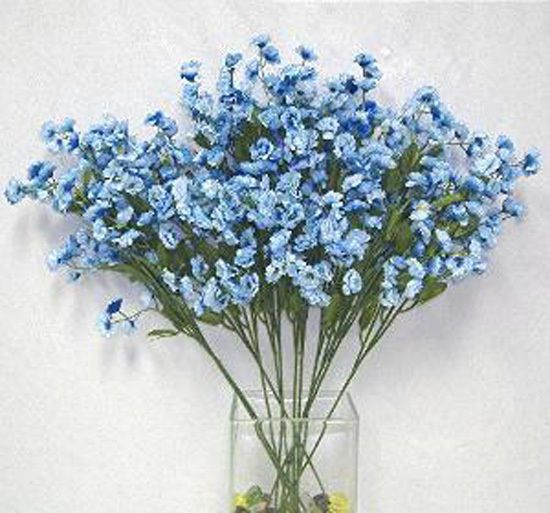 12 Light Blue Baby S Breath Stems Gypsophila Silk Wedding Flowers Centerpieces Wedding Flower Centerpieces Blue Silk Wedding Flowers Centerpiece Flower Centerpieces Wedding