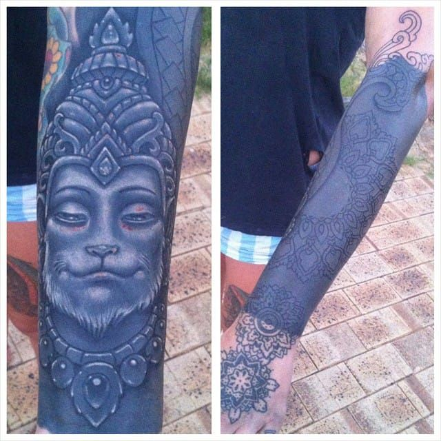 White On Black Tattoo You Can Tattoo White Over Black Black White Tattoos Black Ink Tattoos Solid Black Tattoo
