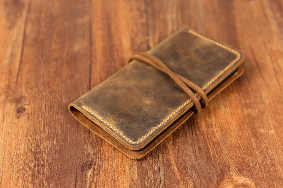 Personalized Leather Iphone 6 Wallet Case Vintage Distressed