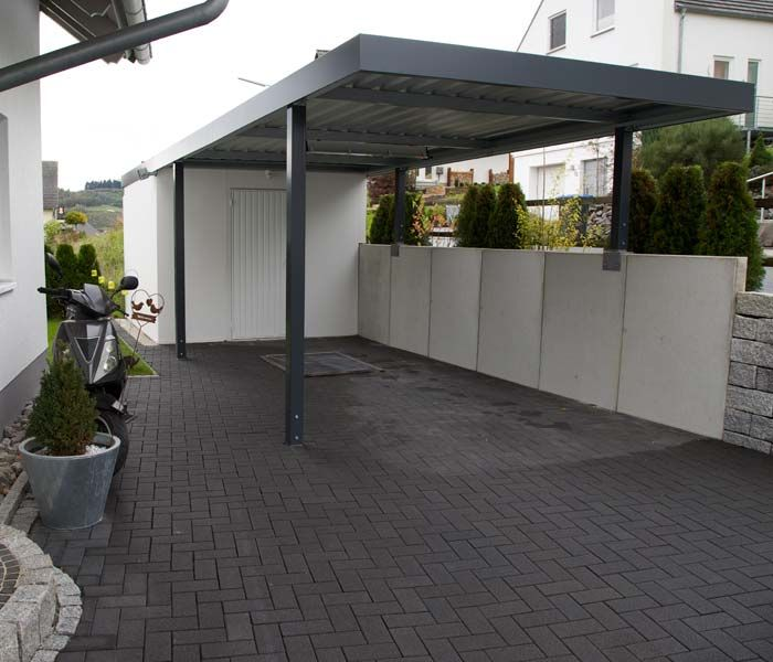 carport ma anfertigung f r siebau carport aus stahl carport pinterest vordach carport mit. Black Bedroom Furniture Sets. Home Design Ideas