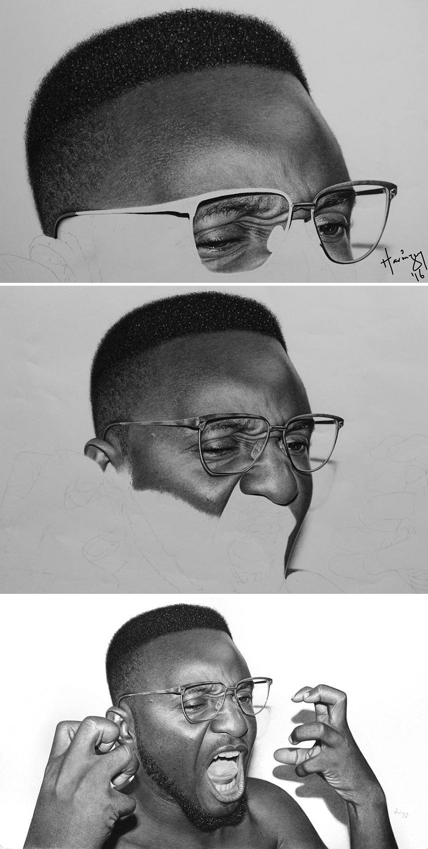 Nigerian Pencil Artists Black And White