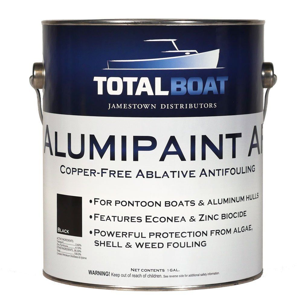 Totalboat Alumipaint Af Aluminum And Pontoon Boat Bottom Paint Black Gallon Pontoon Boat