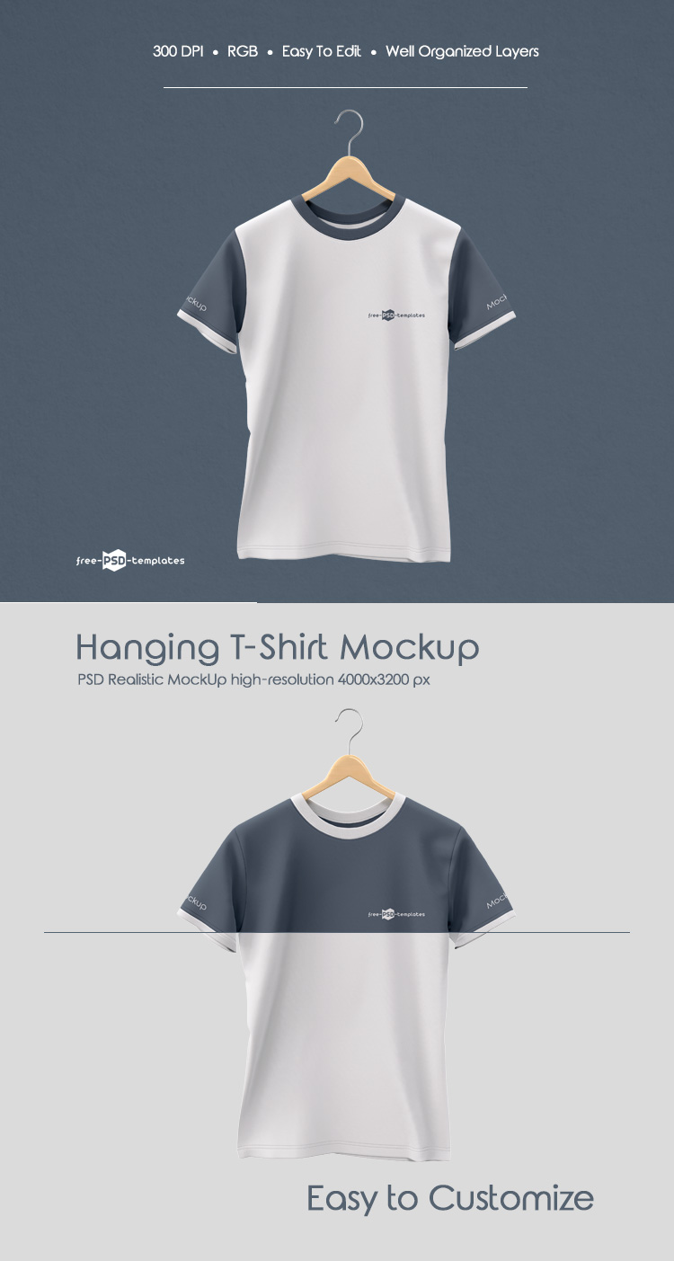Download Free Hanging T Shirt Mock Up In Psd Free Psd Templates Shirt Template Tshirt Mockup Free Logo Mockup
