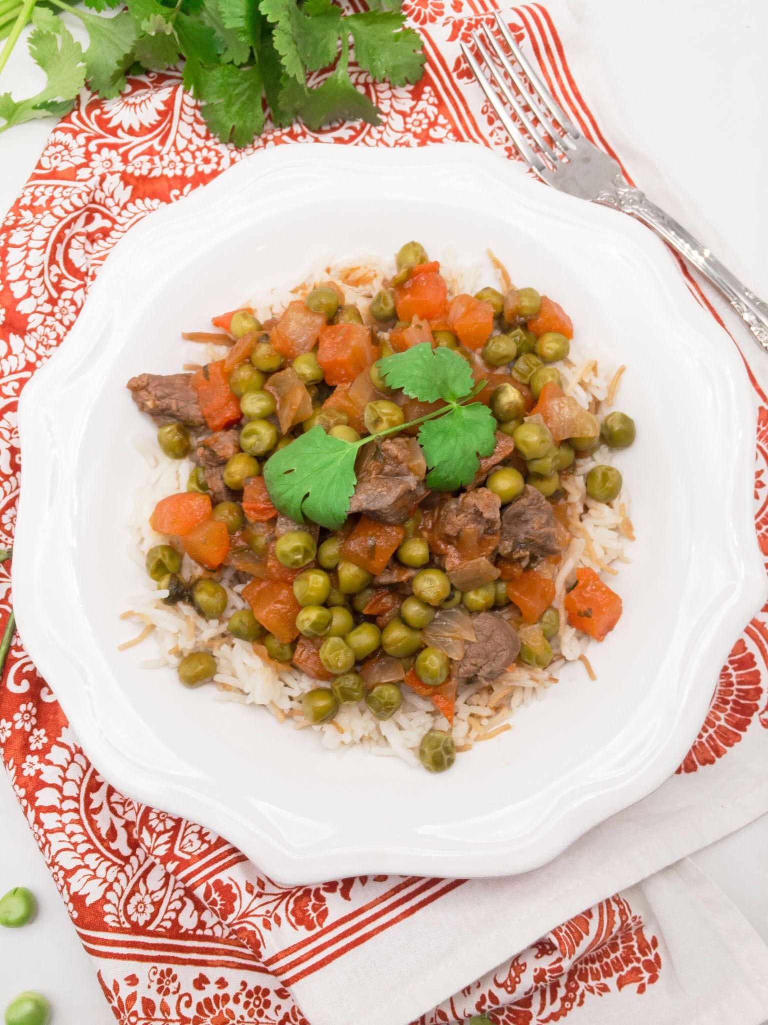 Bazella Lebanese Stew With Peas Pea Recipes Lebanese Recipes