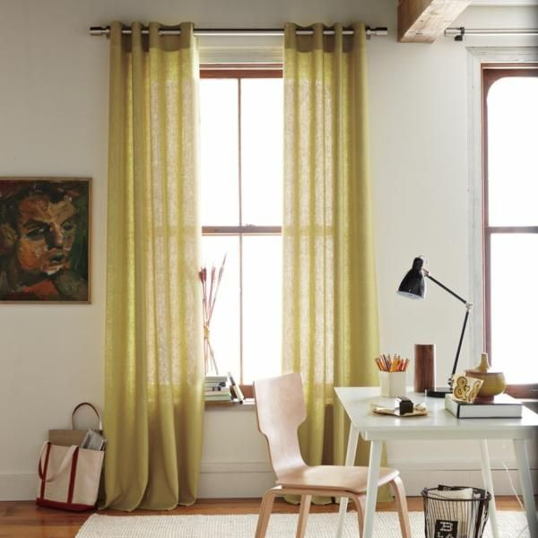 Smarten Your Interior Display By Adding Geometric Curtains Modern