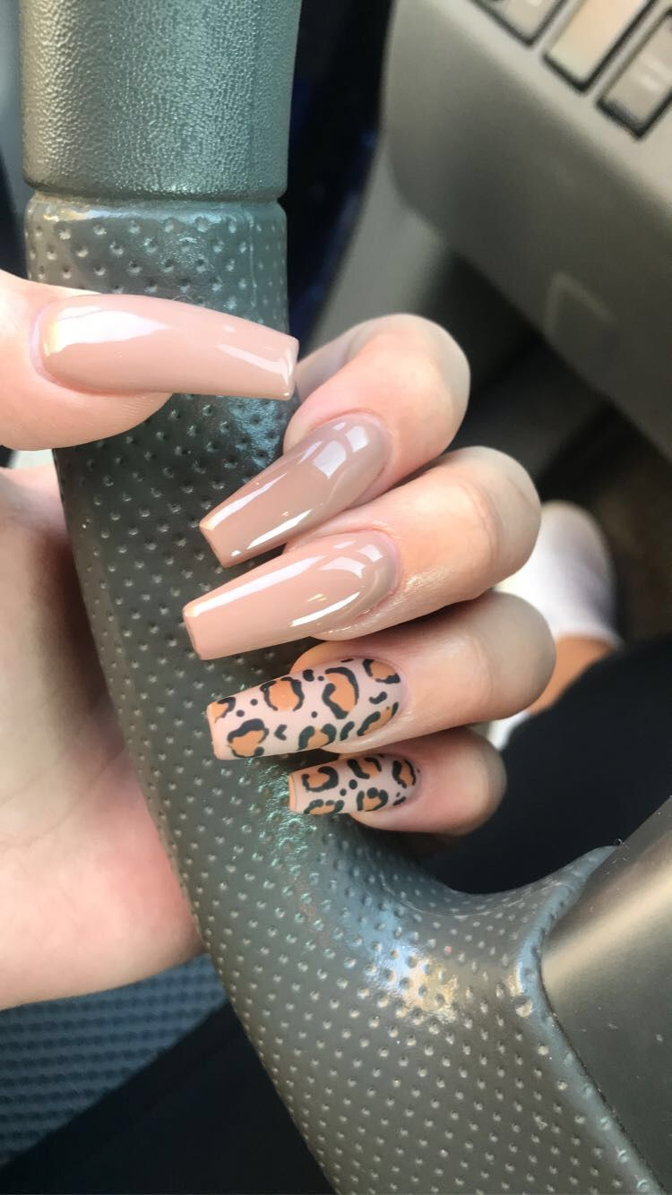 Leopard Print Acrylic Set Leopard Print Nails Cheetah Print Nails Cheetah Acrylic Nails