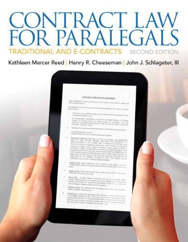 Contract law for paralegals 2nd edition products pinterest contract law for paralegals 2nd edition fandeluxe Image collections