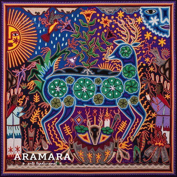 Mexican Decor Digital Print Huichol