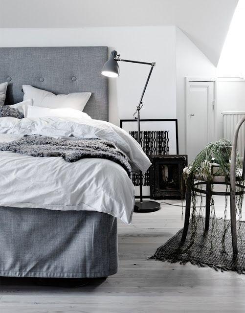 PLATEFUL OF LOVE: Greyish bedroom