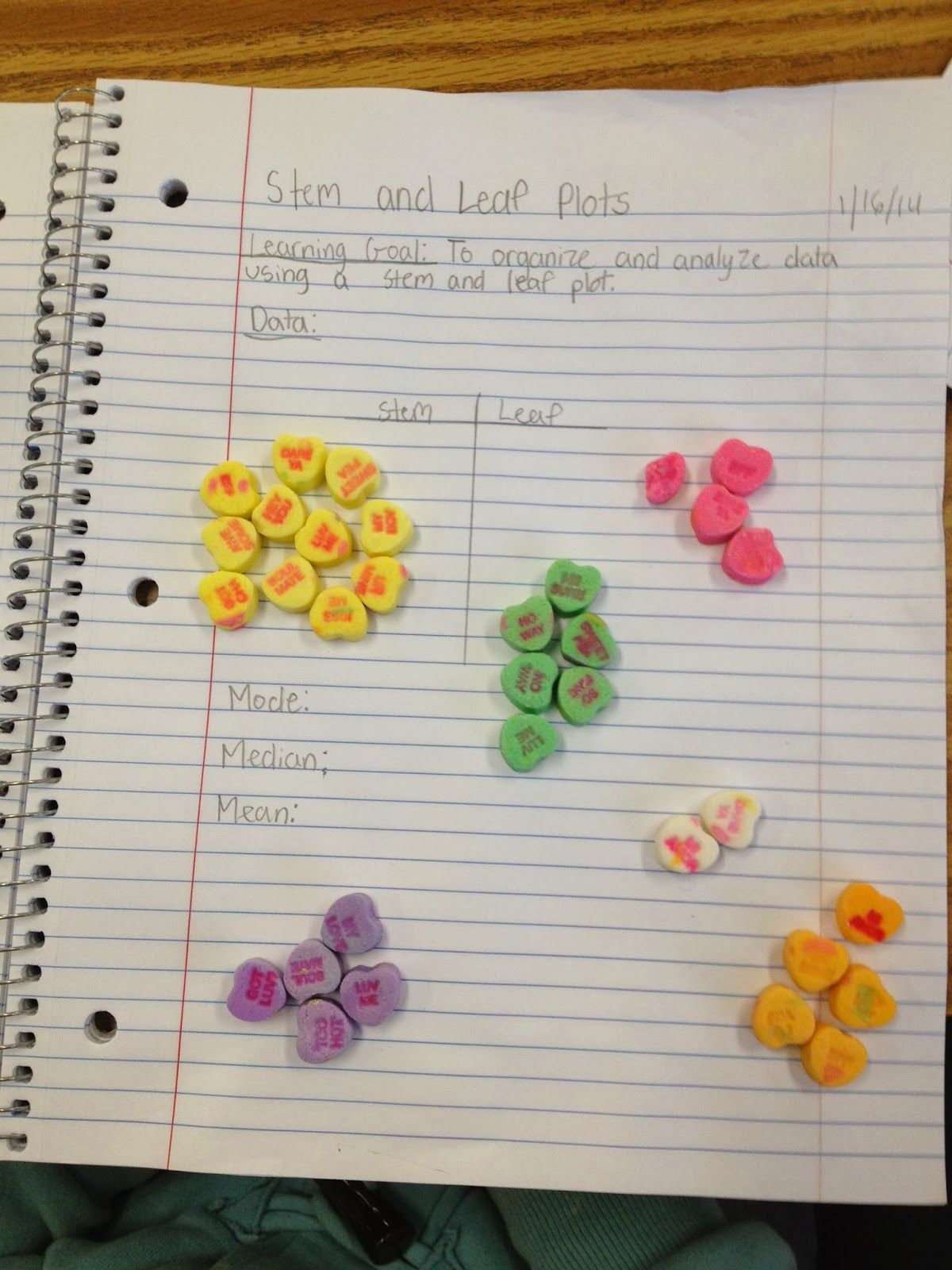Valentine' Math Activity Teach Stem & Leaf Plots
