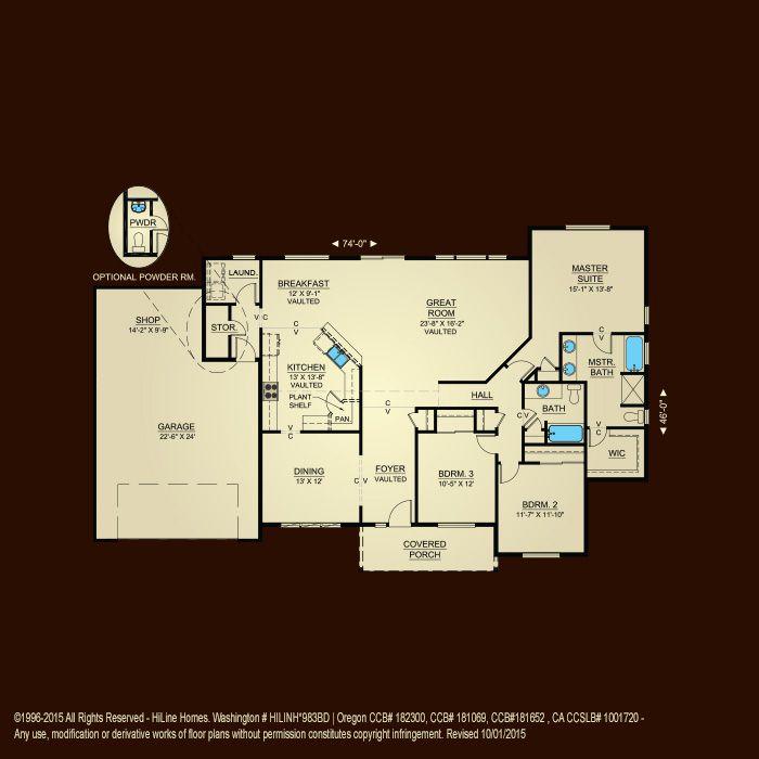 Properties - Plan 2042 | HiLine Homes