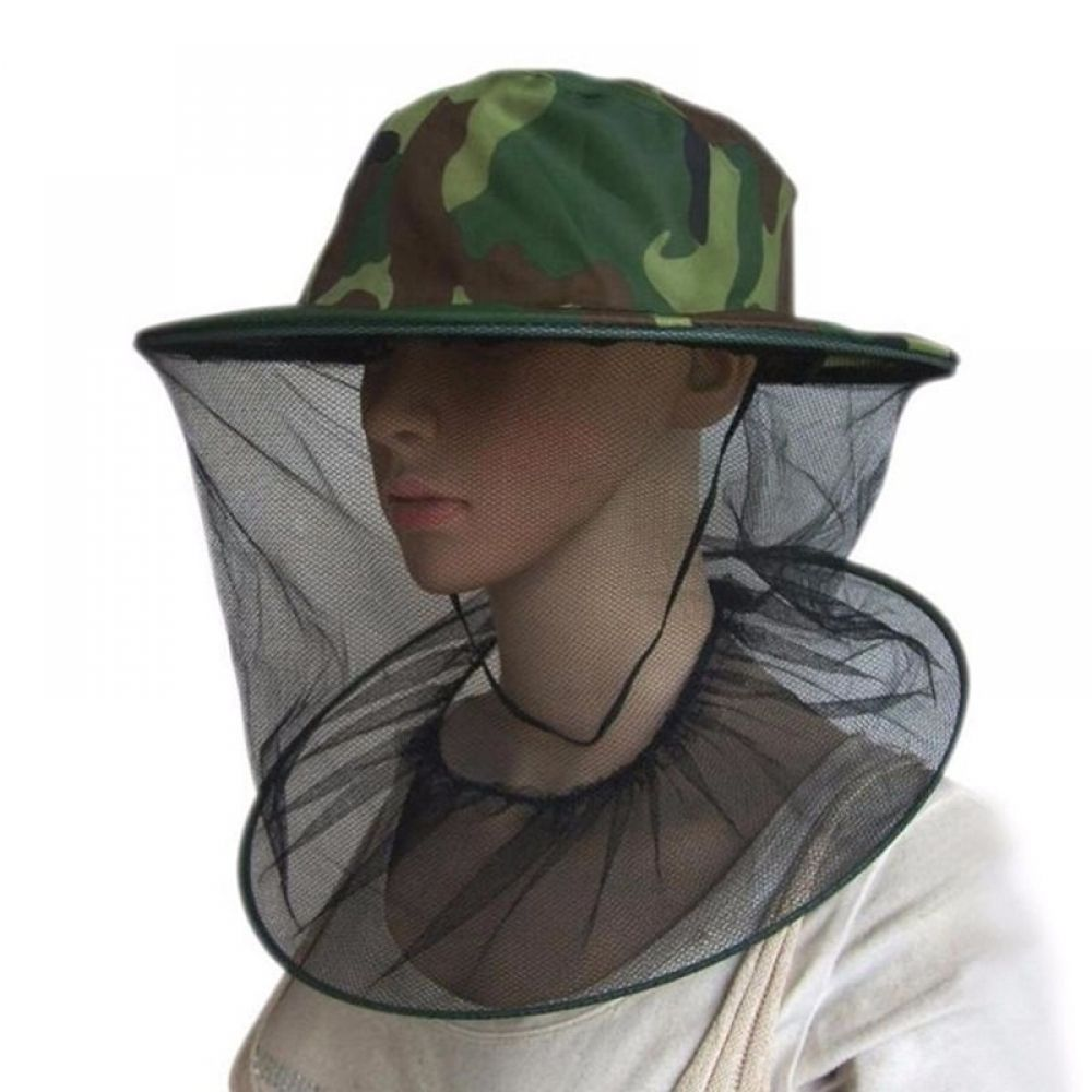 Camping Hunting Head Mesh Net Mosquito Insect Bug Beekeeping Face Protection Hat