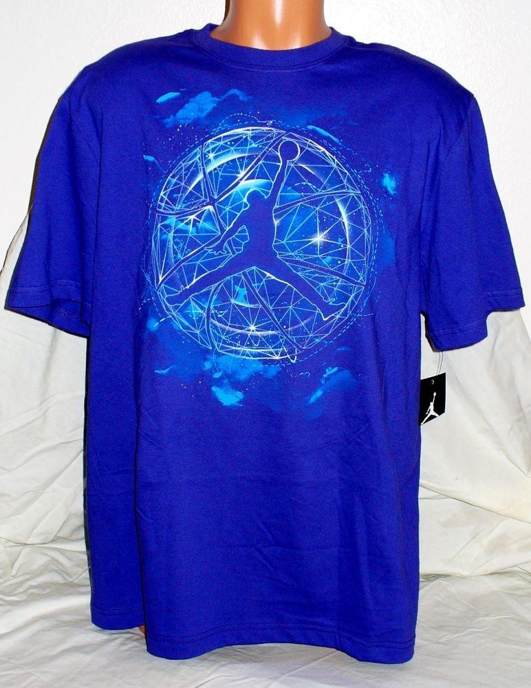 cc06f2f6c56e NEW NIKE MEN S PURPLE JORDAN GRAPHIC T-SHIRT SIZE XL 100% COTTON basketball   Nike  ShirtsTops