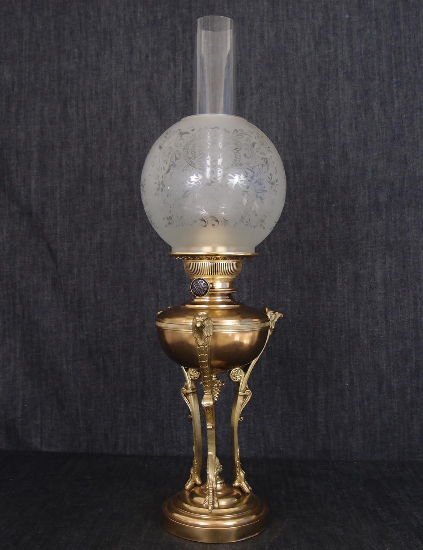 Importante lampada da tavolo Francesi stile Impero