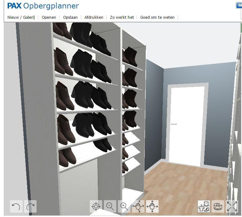 Zelf Samengestelde Inloop Schoenenkast Van Ikea Pax