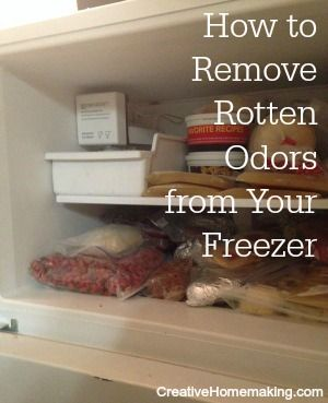 Removing Rotten Meat Smell Or Odor From The Freezer Clean Dishwasher Cleaning Hacks Deep Cleaning Tips