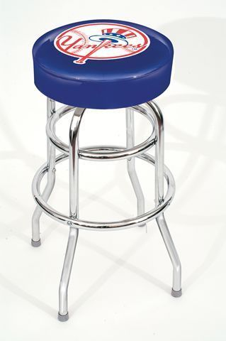 New York Yankees Ny Backless Swivel Sports Bar Stool