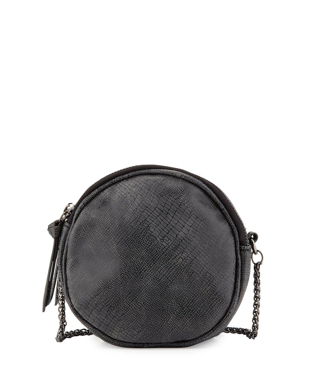 926914693821cb Violet Ray Mia Crocodile-Embossed Canteen Crossbody Bag, Black, Women's