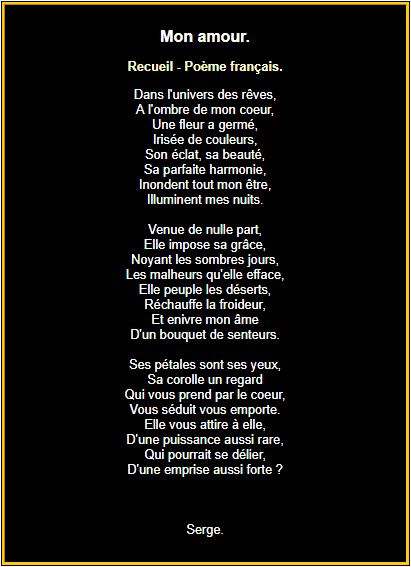 Mon Amour Citation Amour Heureux Poeme Francais Et Poeme