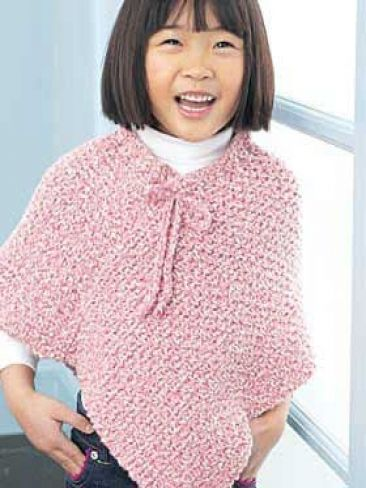 Child S Poncho Yarn Free Knitting Patterns Crochet Knit