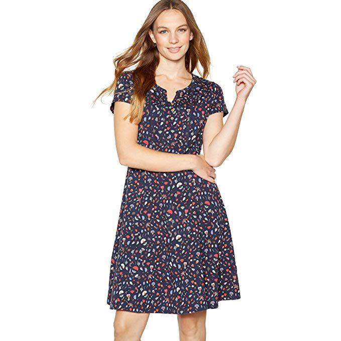b6a5c73732 Mantaray Womens Navy Heart Print Knee Length Skater Dress #dress #casual  #casualdresses #