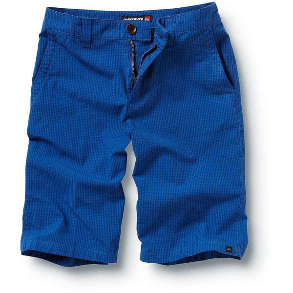 Quiksilver Boys 8-16 Check It Shorts (71 BRL) ❤ liked on Polyvore featuring blue