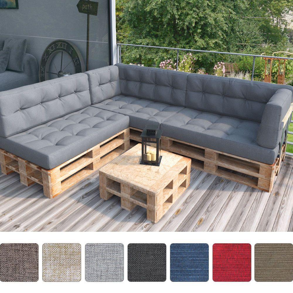 Palettenkissen Palettenpolster Palettenmöbel Sitzkissen Rückenkissen Sitzauflage