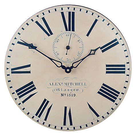 Lascelles Glasgow Station Wall Clock Dia 36cm Cream