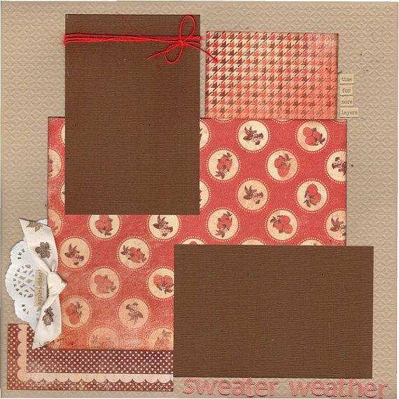2 page layout kit -12x12. This kit has been created by Crop-A-Latte. All items are pre-cut and ready to assemble. Youll also receive easy to