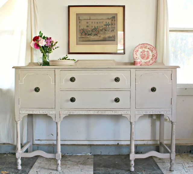 Heir and Space: An Antique Sideboard in Linen | Painted Pieces ...