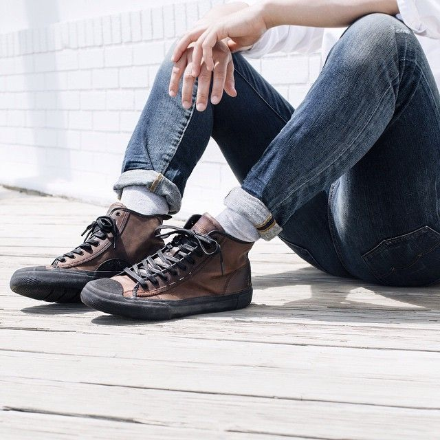 Ryan Mid Lace Sneakers | The Frye Company | New mens fashion