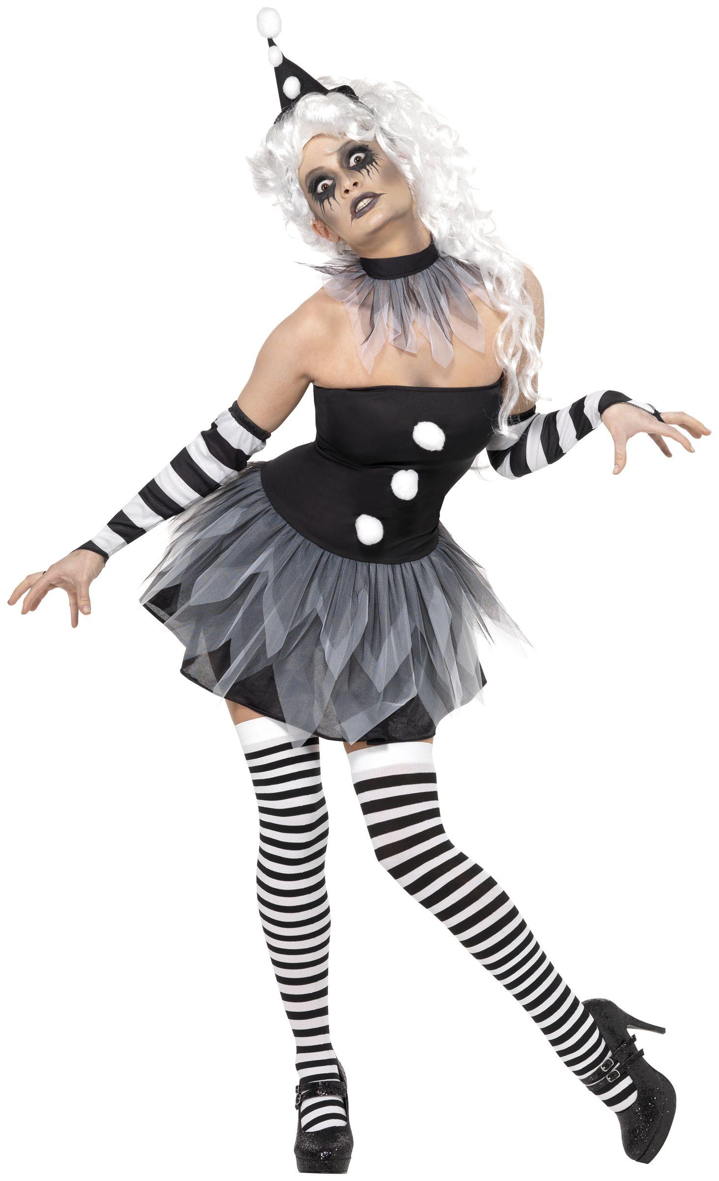 Clown Deguisement Chemisier Blanc Sexy Femme vOymN80nw