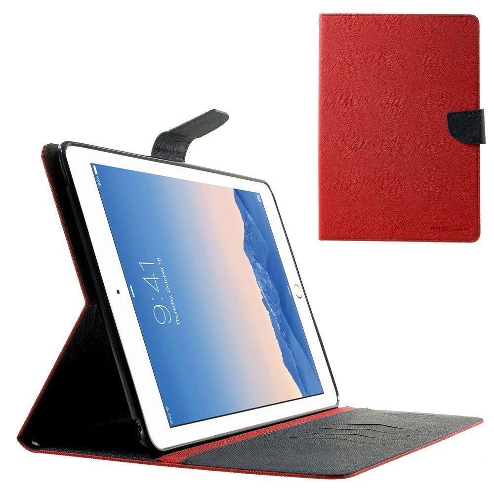 Ipad Air 2 Genuine Mercury Goospery Red Fancy Diary Folio Flip Case Iphone 6 Plus 6s Brown Black Cover
