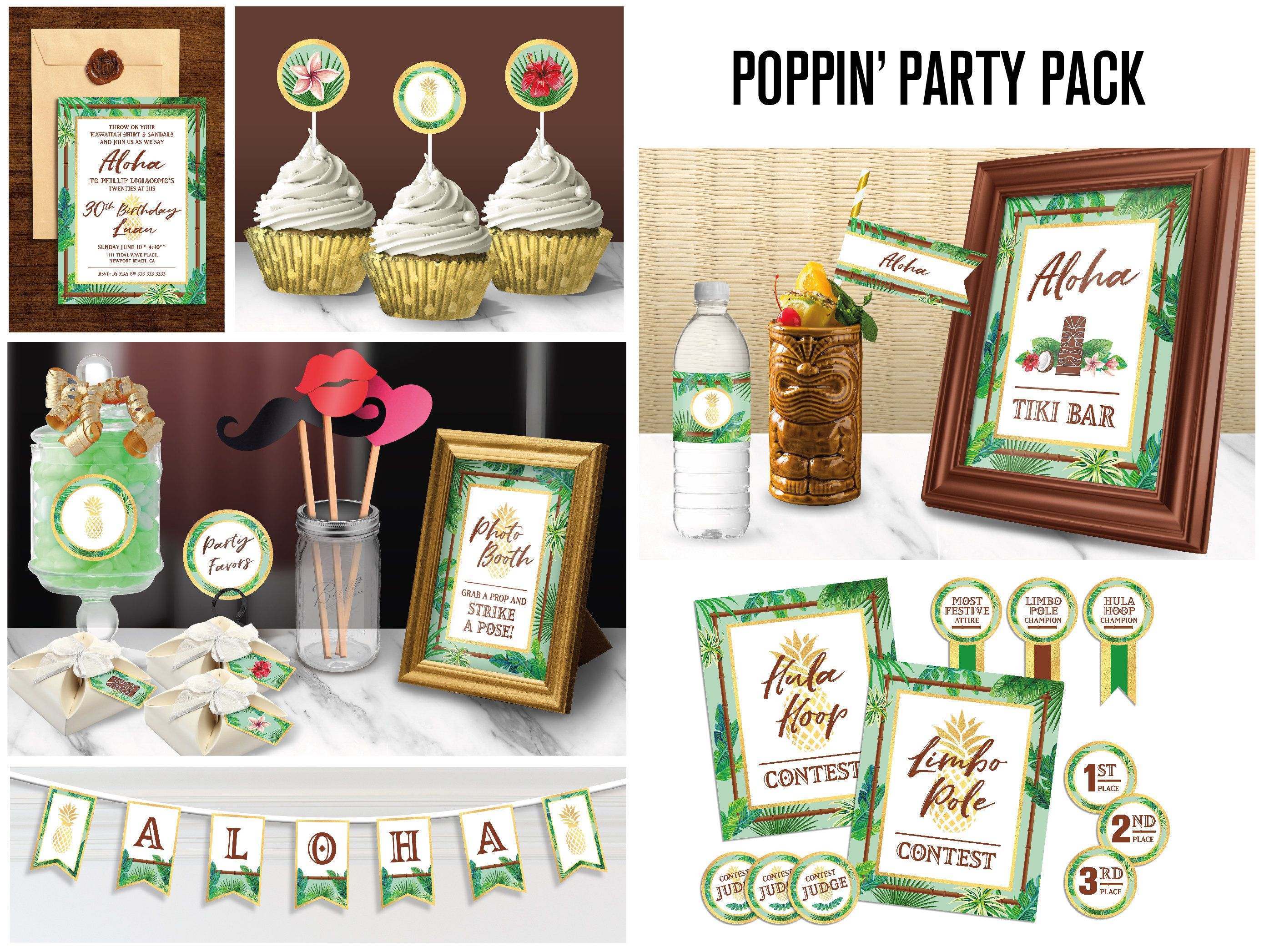 Printable Hawaiian Luau Party Pack // Printable Party Kit // Luau Party Decor // Tropical Party Printables // Luau Party Decorations #hawaiianluauparty
